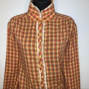 VTG Cottage Core Prairie Buttondown Shirt/Blouse